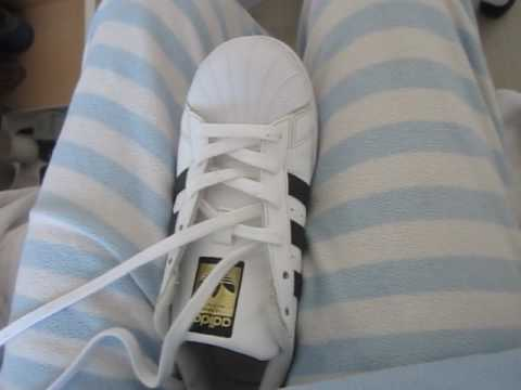 marca popular adecuado para hombres/mujeres elige genuino How to put laces to Adidas Superstar