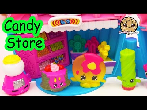 Shopkins Play Video - Candy Store Date - Season 4 & 2 Toy Series Part 2 Cookieswirlc