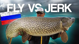 FLY VS JERK - Siberia Edition (Pike Fishing in Russia)