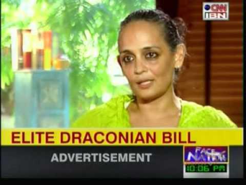 Arundhati Roy on Anna Hazare's campaign--1---CNN IBN