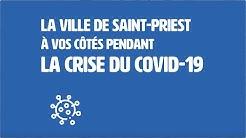 La Ville de Saint-Priest à vos côtés pendant la crise du Covid-19