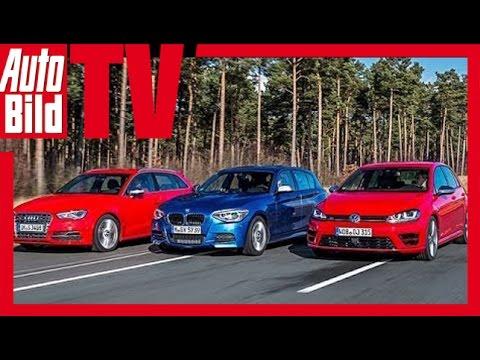 VW Golf R vs. Audi S3 vs. BMW M135i