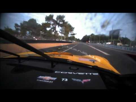 2011 24 Hours Le Mans Corvette Onboard Entering Morning Hours
