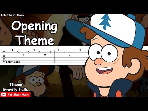 Gravity Falls - Opening Theme/Weirdmageddon Guitar Tutorial