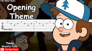 Gravity Falls - Opening Theme/Weirdmageddon Guitar Tutorial