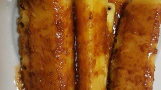 Ананас в карамели жаренный  рецепт от не профессионального повара можно и в шоколаде
