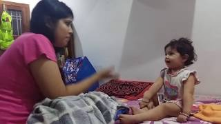 Innocent Baby Fighting with Mom