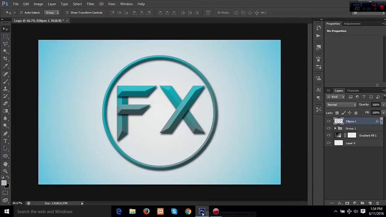 Hướng dẫn thiết kế logo bằng photoshop cơ bản 11