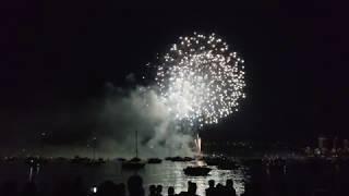 Vancouver EVENT: 2018 HONDA CELEBRATION OF LIGHT South Korea Fireworks, Seen from Vanier Park