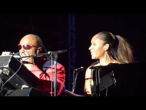 Stevie Wonder & Aisha Morris at Bestival 2012 - Isn't She Lovely & She Loves You