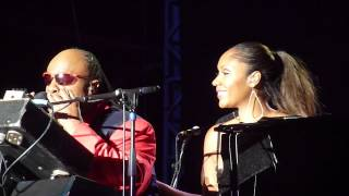 Stevie Wonder & Aisha Morris at Bestival 2012 - Isn