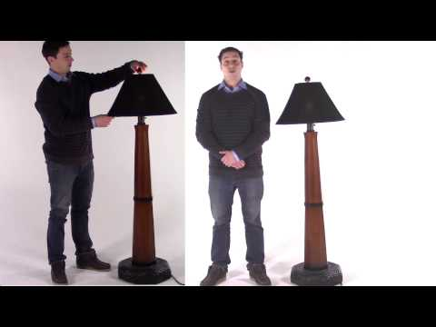 Marty Introduces the Patio Living Concepts Manhattan Outdoor Floor Lamp with Sunbrella Shade