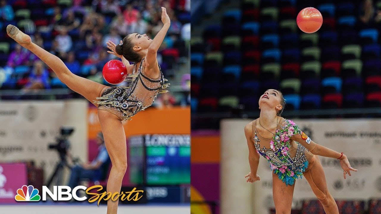Averina twins finish 1-2 in ball final at rhythmic gymnastics world championships | NBC Sports