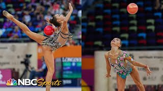 Averina twins dominate ball final at rhythmic gymnastics world championships | NBC Sports