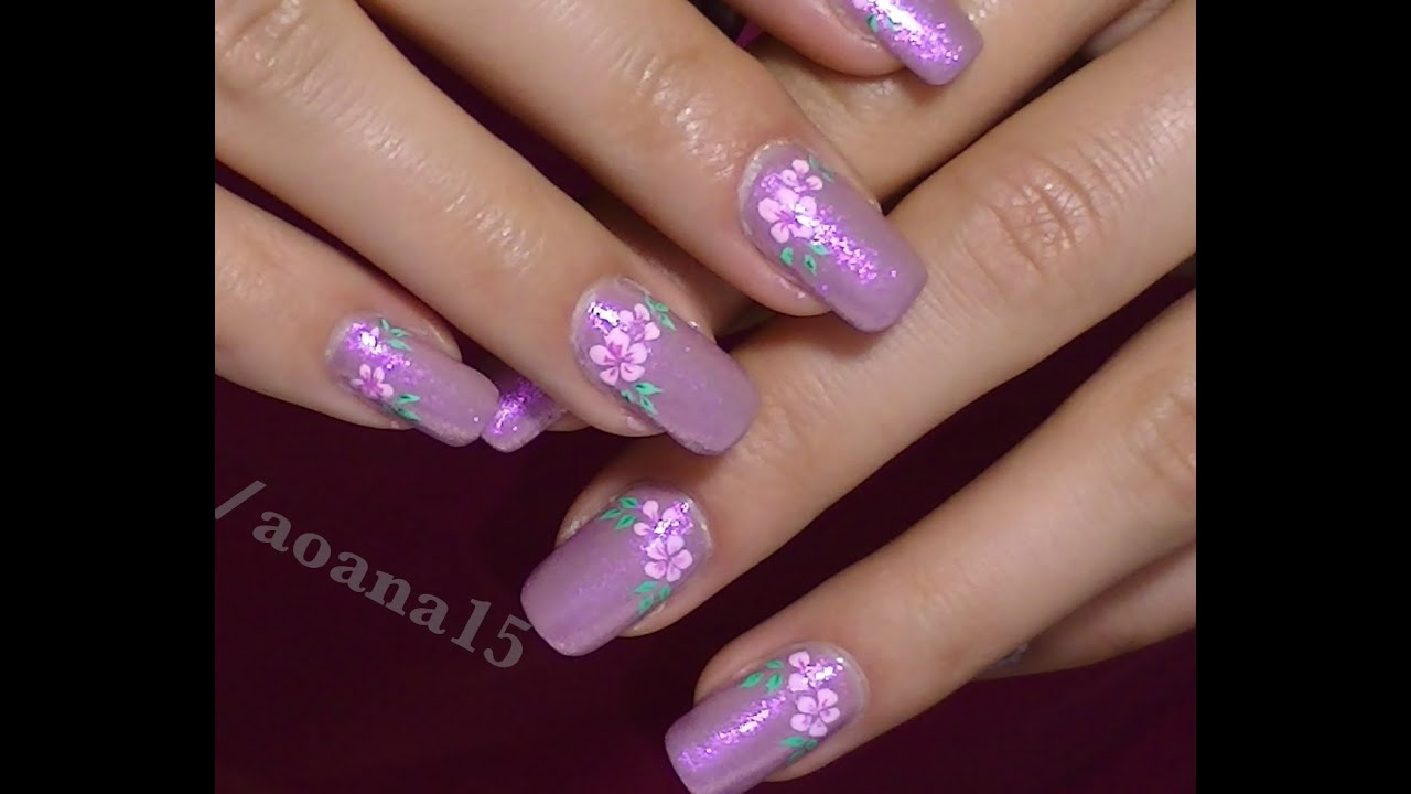 Vintage pink flower video nail art design tutorial hand painted vintage pink flower video nail art design tutorial hand painted flower youtube prinsesfo Image collections