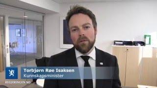 Masterdag 2016 - Videohilsen fra Kunnskapsminister Torbjørn Røe Isaksen