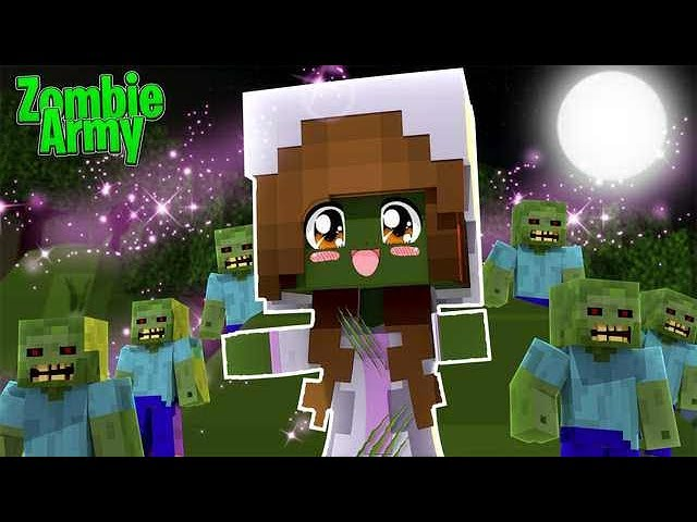 baby-ellie-summons-a-zombie-army-minecraft-little-kelly