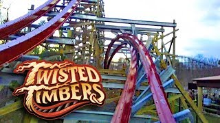 Twisted Timbers HD Front Seat On Ride POV & Review, RMC Hybrid Roller Coaster At Kings Dominion