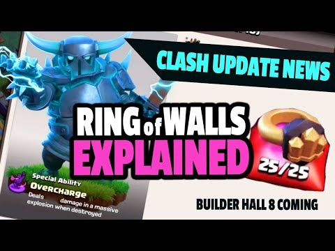 CLASH UPDATE: RING of WALLS, Magic Runes, Builder Hall 8