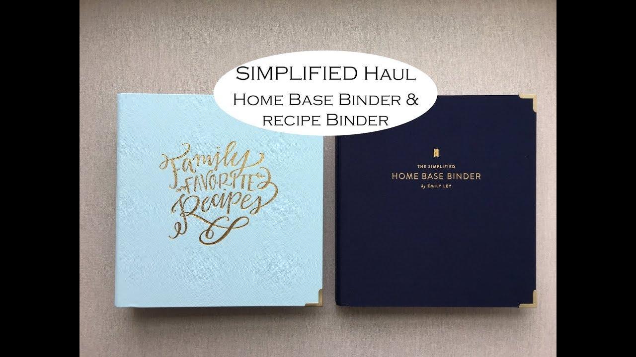 SIMPLIFIED HOME BASE BINDER & RECIPE BINDER