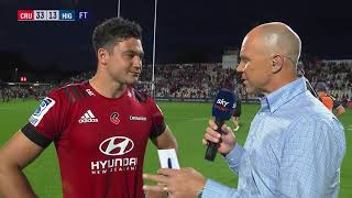| SuperSport | Super Rugby | Crusaders v Highlanders  | Post-match interview with David Havili