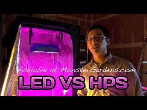 Led Grow Light Testing Growlight Versus A 400 & 600 Watt
