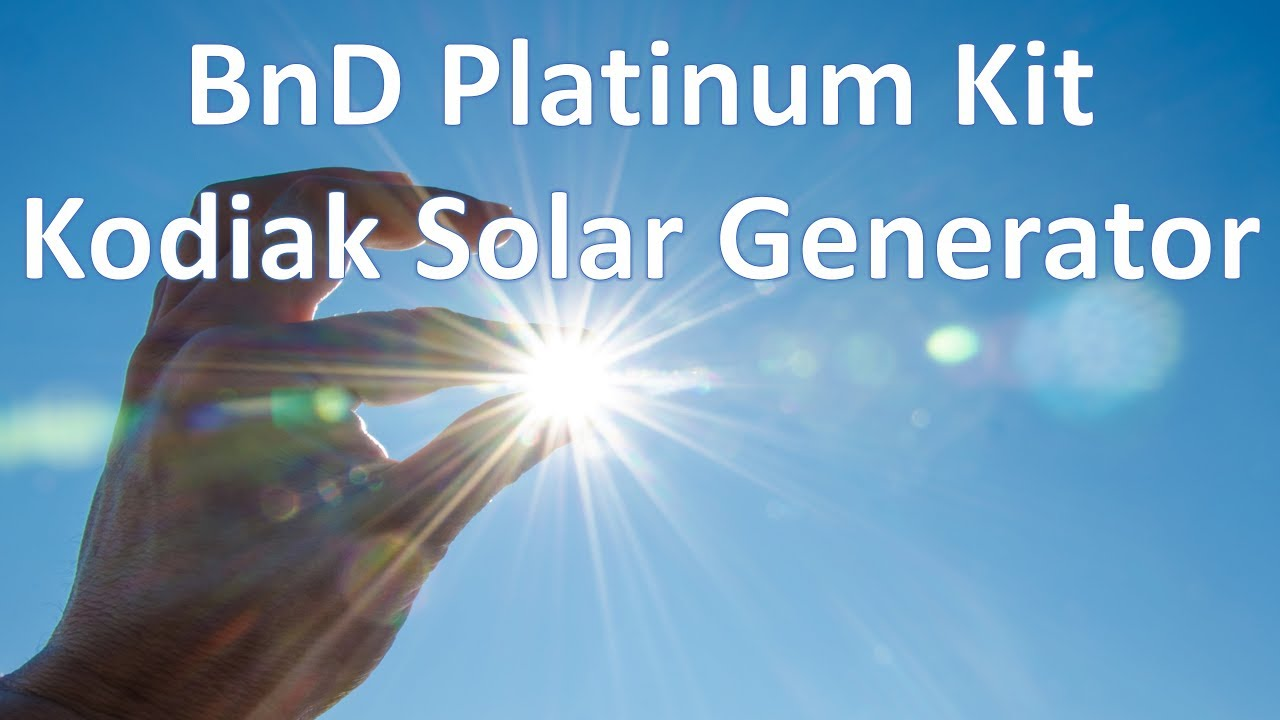 BnD Platinum Kit Portable Solar Power Generator Inergy Kodiak