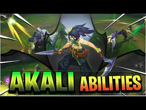 AKALI REWORK ABILITIES GAMEPLAY SPOTLIGHT - League of Legends