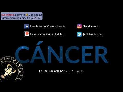 Horóscopo Diario - CÁNCER - 14 de Noviembre de 2018