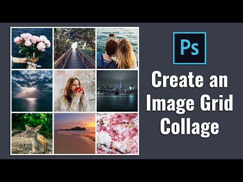 How To Create Square Image Grid Collage In Photoshop