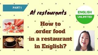 餐馆点菜英语-基础英语-实用英语-英语口语at restaurant part 1