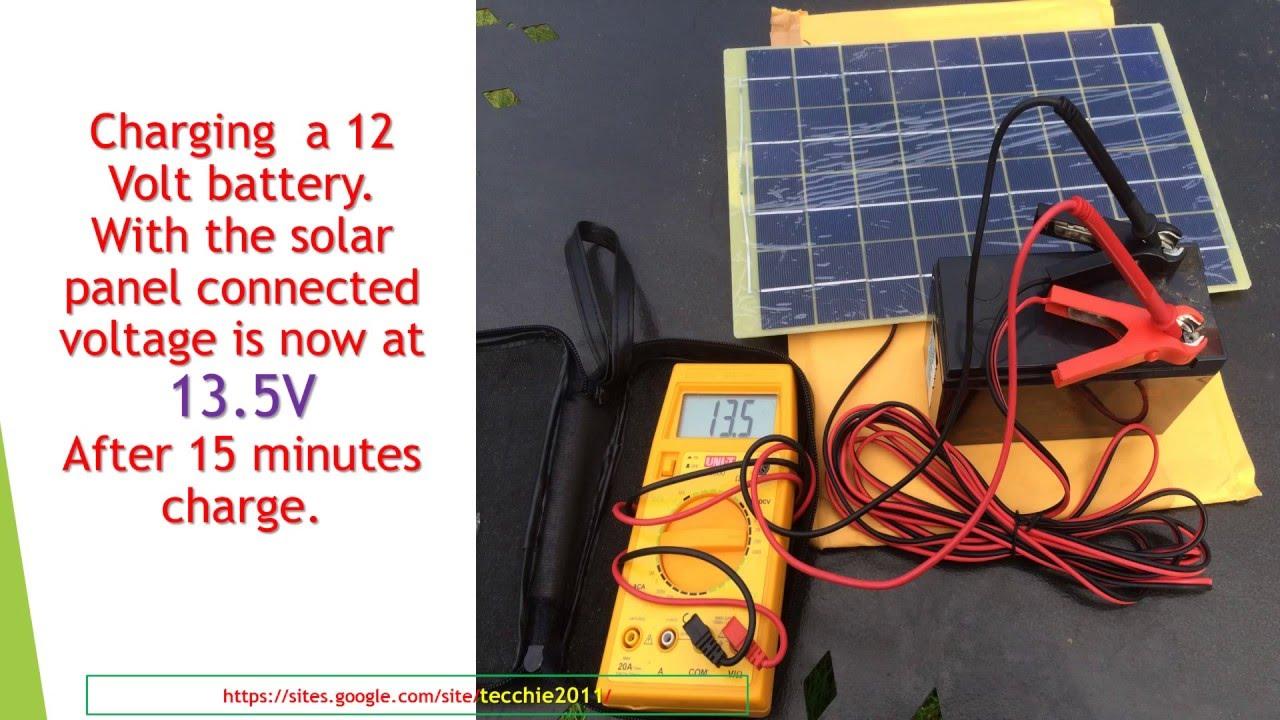 Solar Panel 10w For 12v Units Youtube