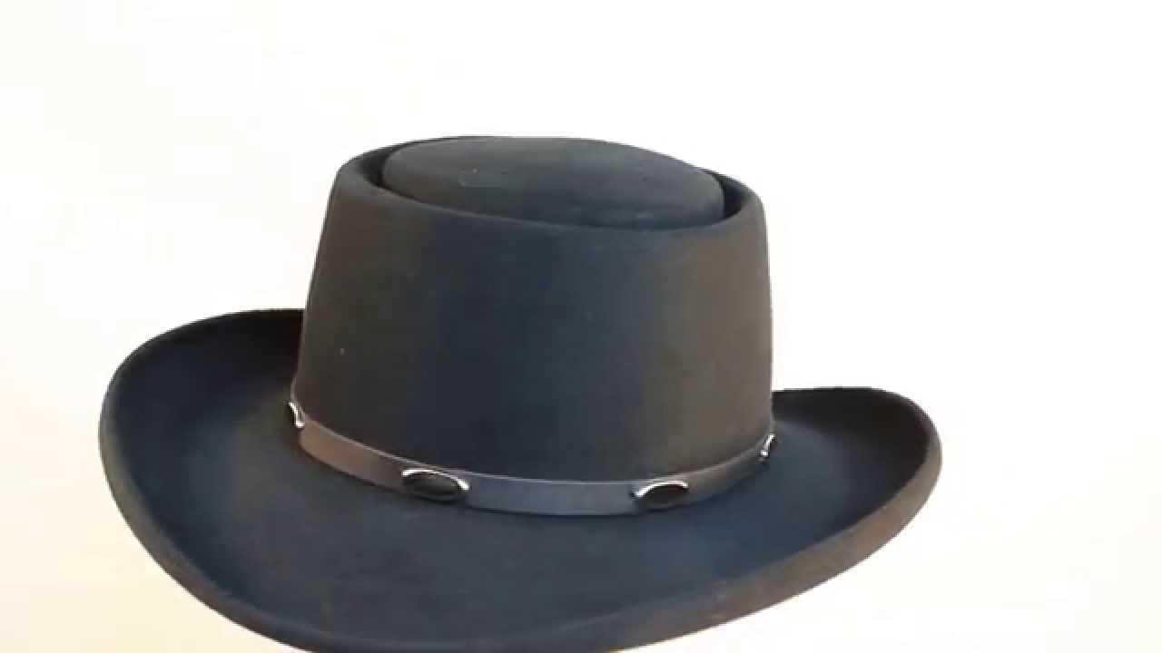 Stetson Royal Flush Gun Club 5X Fur Felt Gambler Hat in Black - YouTube 2936a881cd2