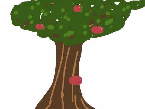 Falling Apples Animation Made On DoInk IPad Animaton Drawing App