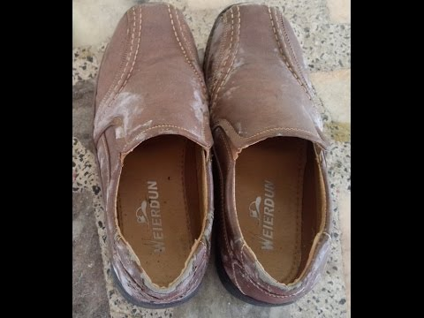 how to remove mold from leather shoes