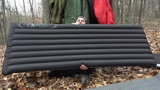 Exped DownMat 9 Pump LW Sleeping Pad & Schnozzel Pumpbag UL Review.