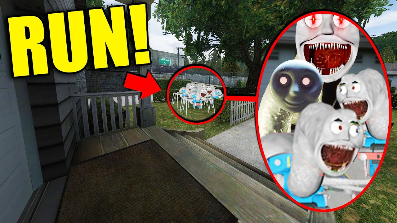 If You See Cursed THOMAS THE TRAIN HORDE Outside Your House, RUN AWAY FAST!! (Scary)