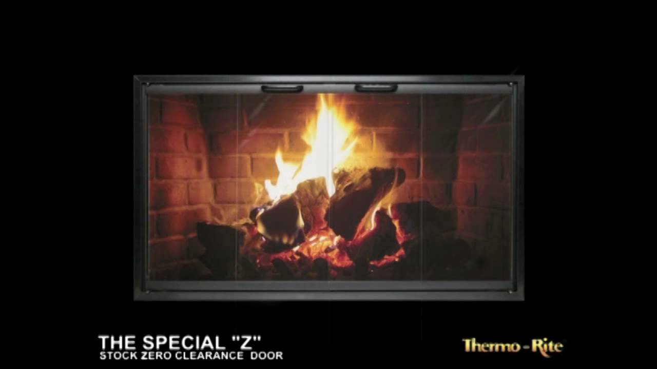 ez door plus fireplace heatilator glass doors brick anew youtube