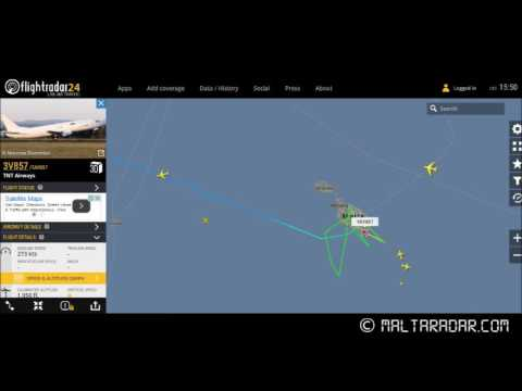 [REAL ATC] TNT Airways reporting Technical Issue with Nose Gear at LMML - ©maltaradar.com