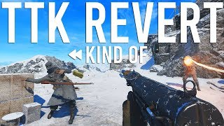 Battlefield 5 DICE kind of reverting TTK