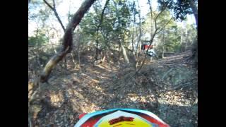 愛車のBETA RR ENDURO 125 4T LCで、友人と野所長谷線・しいたけ林道に...