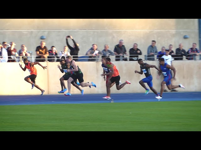 Emile Erasmus 10.11 (-1.0) | Copenhagen Athletics Games 2018