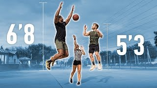Short Vs Tall Basketball: 1v1 Game for $1000