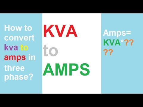 How to convert KVA to AMPs in three phase