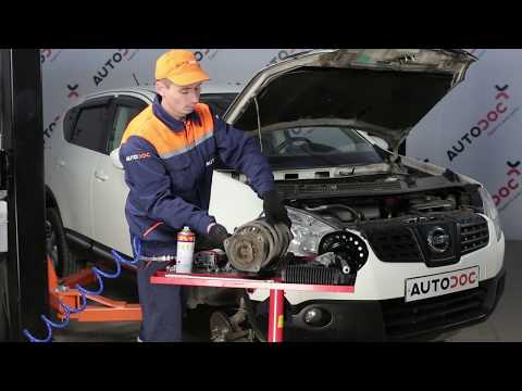 How to replace suspension strut repair kit, front shock absorbers on NISSAN QASHQAI 1 [Tutorial]