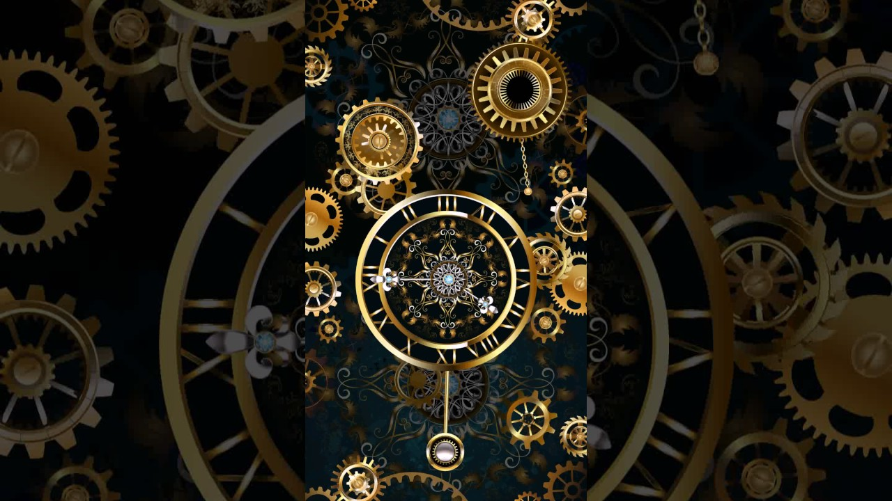 Samsung Theme Live Wallpaper Gold Clock Youtube