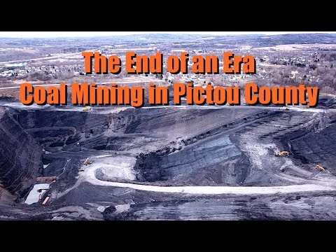 Flying Over An Open Pit Coal Mine