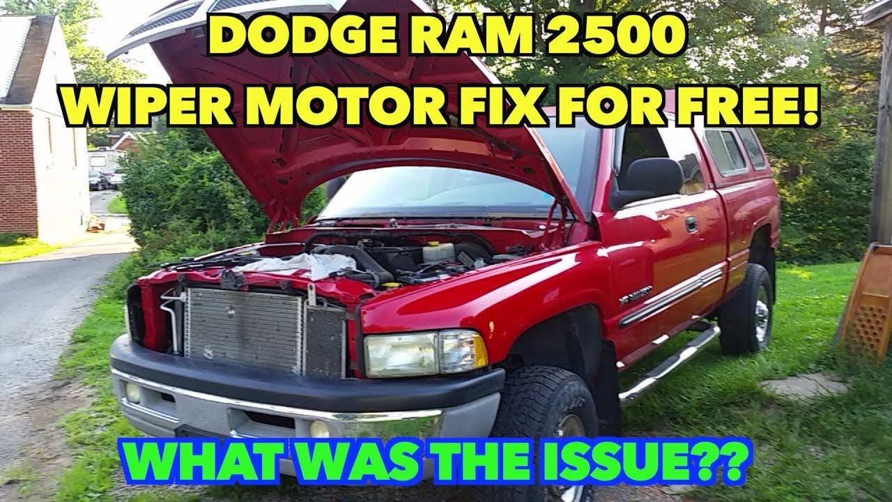 Dodge Ram Wiper Motor Fixed Cost 0 Cents
