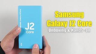 Mở hộp và trên tay Samsung Galaxy J2 Core: Chiếc điện thoại rẻ nhất chạy Android Go của Samsung