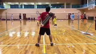 2選手コートインパターンノック練習
